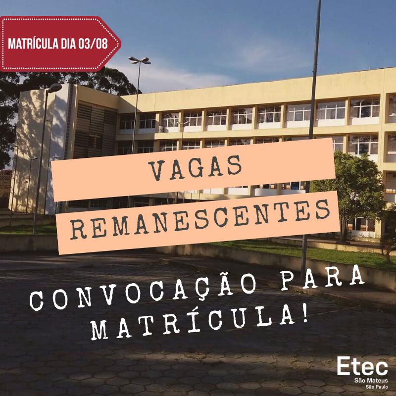 Vagas Remanescentes - Matricula (1)